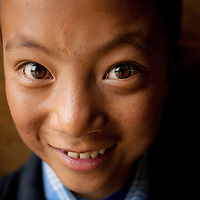 In Xidatan village, a Tibetan village near Yellow Sheep River, Gansu province, China.