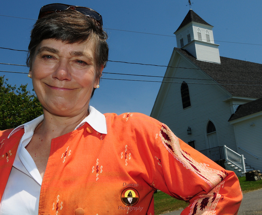 BAILEY ISLAND,  Harpswell, Maine -- 7/22/14 --. <br /> Kitty Babson of Brunswick has been a priest serving the East Asian nation of Myanmar, formerly known as Burma, for nearly 30 years. She is an Unsung Hero. <br /> Photo ©2014 Roger S. Duncan / For The Forecaster.