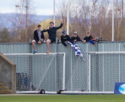 20MAR21 Falkirk fans. Falkirk 2 v 0 Montrose, Scottish Football League Division One game played 20/3/2021 at The Falkirk Stadium.