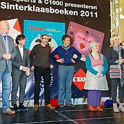 NLD/Amsterdam/20111114 - Presentatie Sinterklaasboeken Douwe Egberts & C1000, Arjan Ederveen en Piet Paris, Kristina Ruell en Yvon Jaspers, Ronald Giphart en Tom Schamp, Renate Verbaan