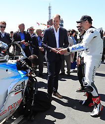 The Duke of Cambridge visits the Isle of Man TT races on the 6th May 2018. Picture by Peter Byrne/WPA-Pool. 06 Jun 2018 Pictured: Prince William, Duke of Cambridge, Michael Rutter. Photo credit: MEGA TheMegaAgency.com +1 888 505 6342