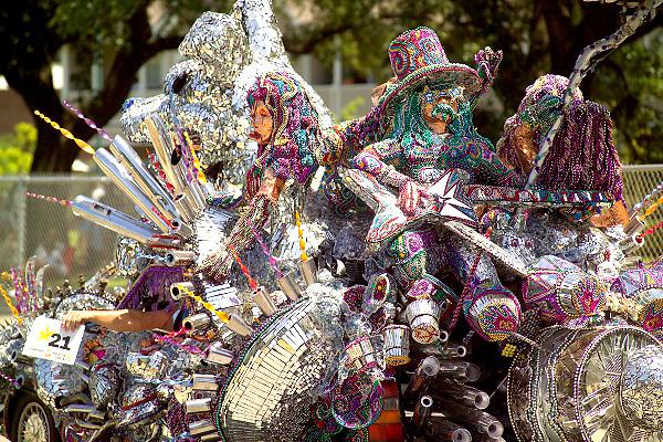 Stock photo of a very shiny band car