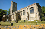 St Gregory church and graveyard, Sudbury, Suffolk, England