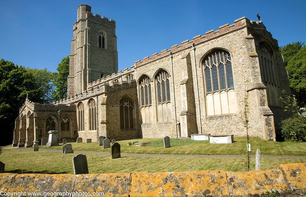 St Gregory church and graveyard, Sudbury, Suffolk, England