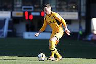 Newport county's Robbie Willmott in action. Skybet football league two match, Newport county v Exeter city at Rodney Parade in Newport, South Wales on Sunday 16th March 2014.<br /> pic by Andrew Orchard, Andrew Orchard sports photography.