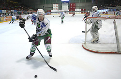 Bostjan Groznik of Olimpija at 2nd final match of Slovenian National Championships  between HK Acroni Jesenice and HDD Tilia Olimpija, on March 17, 2009, in Podmezaklja, Jesenice, Slovenia. Acroni Jesenice won after free shots 2:1 and are leading 2:0. They need to win 2-times more. (Photo by Vid Ponikvar / Sportida)