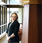 (Mara Lavitt — New Haven Register) <br /> August 15, 2014 New Haven<br /> Quinnipiac University will be opening its new law school building on its North Haven campus. Law school Dean Jennifer Brown, pictured, gave the Register a sneak peak.<br /> mlavitt@newhavenregister.com