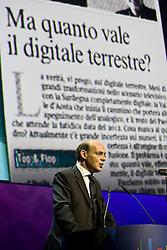 """Roma 21/01/2009 - IV Conferenza nazionale sul Digitale Terrestre dal titolo """"Niente è come prima"""". NELLA FOTO: Andrea Ambrogetti, Presidente DGTVi illustra la relazione annuale."""