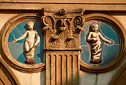 ITALY, FLORENCE Foundling Hospital designed by Renaissance architect Brunelleschi in the 15thC with medallions by Della Robbia