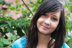 Young Czech woman smiling,