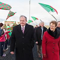 An tUachtaran Cumann Luthchleas Gael, Mr. Liam O'Neill, with his wife Áine, during their visit to the Kilmurry Ibrickane GAA Club Centenary Closing Ceremony
