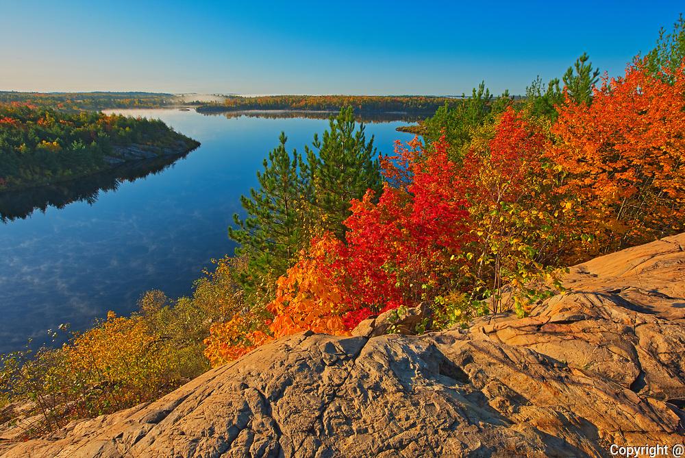 Autumn. Lake Laurentian. Lake Laurentian Conservation Area.<br />Sudbury<br />Ontario<br />Canada