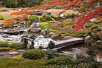 """Yamagata Aritomo constructed his private villa near the great Zen Buddhist temple of Nanzenji and called it Murin-an.  The garden is famous for its strolling garden, which is cleverly designed to take in the nearby hills of Higashiyama as """"borrowed scenery"""" and the waters of Lake Biwa canal as the source of its stream."""