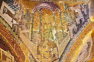 The 11th century Roman Byzantine Church of the Holy Saviour in Chora and its mosaic of Joseph. Endowed between 1315-1321  by the powerful Byzantine statesman and humanist Theodore Metochites. Istanbul .<br /> <br /> If you prefer to buy from our ALAMY PHOTO LIBRARY  Collection visit : https://www.alamy.com/portfolio/paul-williams-funkystock/holy-saviour-chora-istanbul.html<br /> <br /> Visit our TURKEY PHOTO COLLECTIONS for more photos to download or buy as wall art prints https://funkystock.photoshelter.com/gallery-collection/3f-Pictures-of-Turkey-Turkey-Photos-Images-Fotos/C0000U.hJWkZxAbg