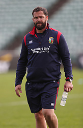 British and Irish Lions' coach Andy Farrell during the training session at the QBE Stadium, North Shore City.