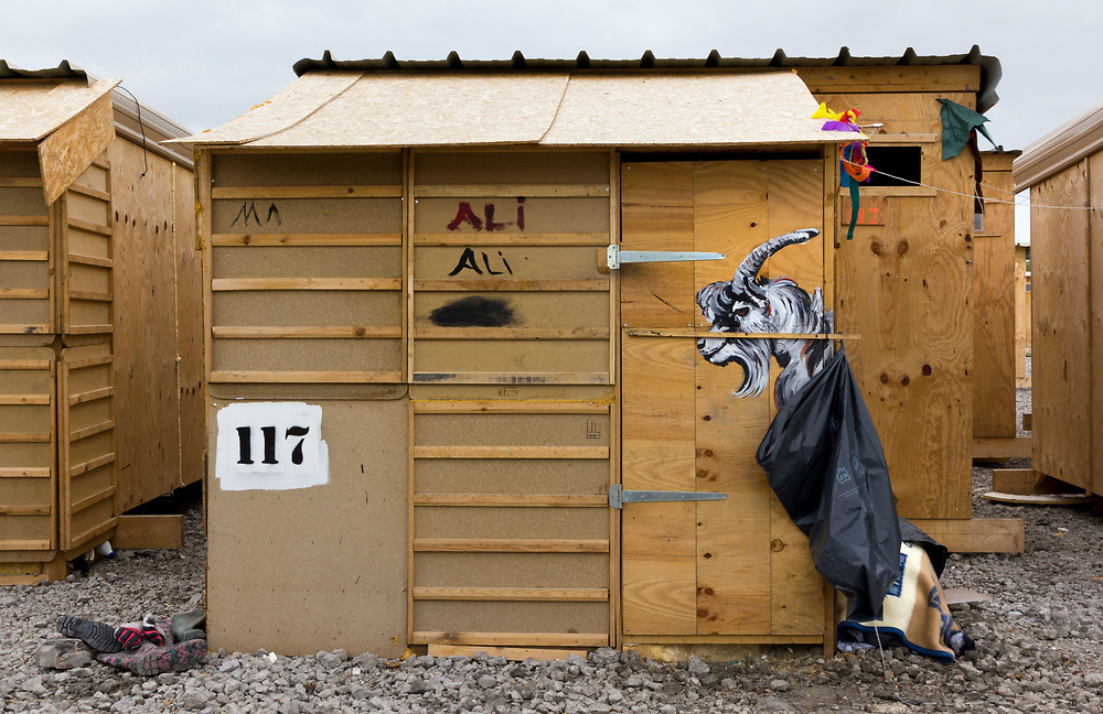 The first purpose-built camp in Dunkirk, France, to provide proper, humanitarian-standard shelter to refugees who were currently sleeping rough.<br /> The camp, made of wooden structures will provide heated shelter, sufficient drinking water, kitchens, showers and sanitation to meet minimum UN humanitarian standards. Built by MSF.<br /> April 2016