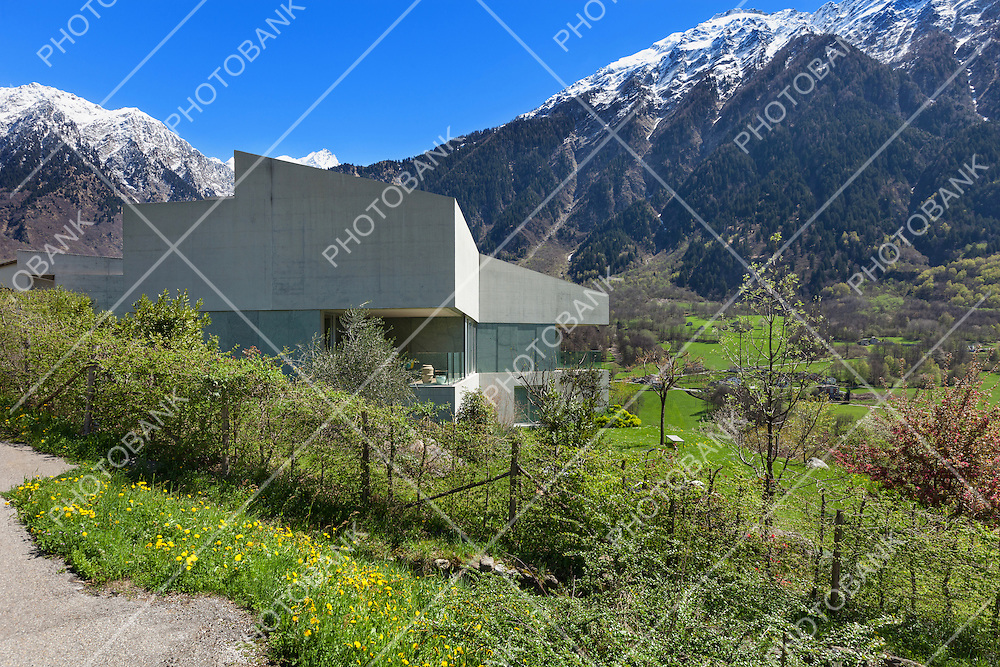 Architecture modern design, concrete house, exterior