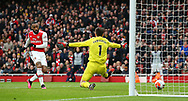 Arsenal's Alexandre Lacazette scores the opening goal during the Premier League match at the Emirates Stadium, London. Picture date: 7th March 2020. Picture credit should read: Paul Terry/Sportimage