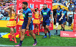 Cape Town-180317  Blues players enter the fied to play against DHL Stomers in a Super Rugby tournament  at Newlands rugby stadium.Photograph:Phando Jikelo/African News Agency/ANA