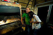 """Billy and Moyahabo spent friday night with their friends doing the """"brai"""" (barbeque in Afrikans) in their dependence."""