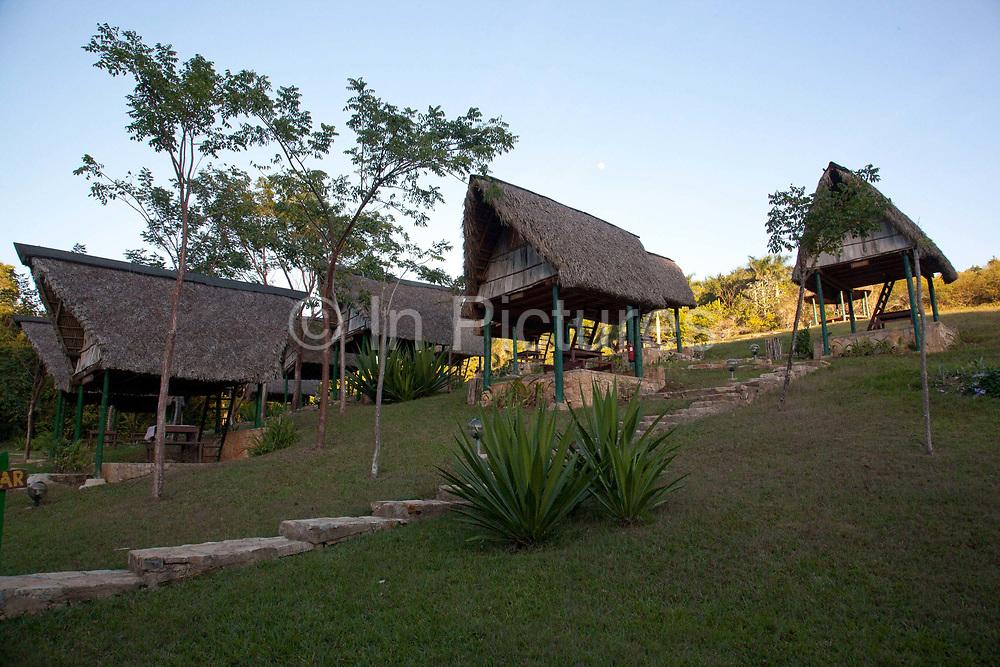 Wicker, wood and straw rustic huts in Las Terrazas eco resort, Candelaria, Artemisa Province, Cuba