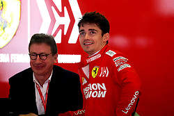May 11, 2019 - Montmelò.Montmel&#Xf2, Catalunya, Spain - xa9; Photo4 / LaPresse.11/05/2019 Montmelo, Spain.Sport .Grand Prix Formula One Spain 2019.In the pic: Charles Leclerc (MON) Scuderia Ferrari SF90 and Louis Carey Camilleri, CEO of Ferrari (Credit Image: © Photo4/Lapresse via ZUMA Press)