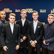 NLD/Amsterdam/20161219 - Filmpremiere Onze Jongens, Samuel, Dioni, Jay, Kaj en Cassius van B-Brave