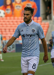 July 18, 2018 - Houston, TX, U.S. - HOUSTON, TX - JULY 18:  Sporting Kansas City midfielder Graham Zusi (8) prepares for the corner kick during the US Open Cup Quarterfinal soccer match between Sporting KC and Houston Dynamo on July 18, 2018 at BBVA Compass Stadium in Houston, Texas. (Photo by Leslie Plaza Johnson/Icon Sportswire) (Credit Image: © Leslie Plaza Johnson/Icon SMI via ZUMA Press)