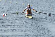 Marathon, GREECE,  CZE W1X,  Mirka KNAPKOVE, at the FISA European Rowing Championships.  Lake Schinias Rowing Course, FRI 19.09.2008  [Mandatory Credit Peter Spurrier/ Intersport Images] , Rowing Course; Lake Schinias Olympic Rowing Course. GREECE
