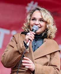 24.02.2018, Goldenes Dachl, Innsbruck, AUT, Landtagswahl in Tirol 2018, SPOe Wahlkampfschlussveranstaltung, im Bild Spitzenkandidatin Elisabeth Blanik (SPOe) // during a campaign event of the SPOe Party for the State election in Tyrol 2018. Goldenes Dachl in Innsbruck, Austria on 2018/02/24. EXPA Pictures © 2018, PhotoCredit: EXPA/ JFK