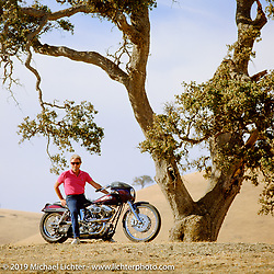 Arlen Ness on his custom known as Ness Vision. CA. Photograph ©Michael Lichter 1987