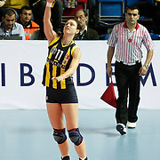 Fenerbahce Acibadem's Christiane FURST during their Women's Volleyball CEV Champions League semi final match at Burhan Felek Arena in Istanbul, Turkey on 20 March 2011. Photo by TURKPIX