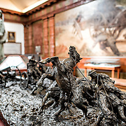 "LISBON, Portugal - Exhibits focusing on World War I. A scultpure tited ""Heading to Position-Shot Piece"" by Cavalry officer Delfim Maia (1886-1978). Housed in the old armoury, Lisbon's Military Museum showcases 500 years of Portuguese military history, with many of the exhibits in opulently decorated rooms of the historic building."