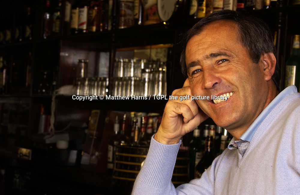 Seve BALLESTEROS (ESP) photographed in 'Mollies Bar' at the Heritage Hotel Portlaoise, Portlaoise, Co.Laois, Ireland.He was in Ireland to visit a golf course of his that is under construction at nearby Killenard and to appear on The Late Late Show-Irish chat show with Pat Kenny.