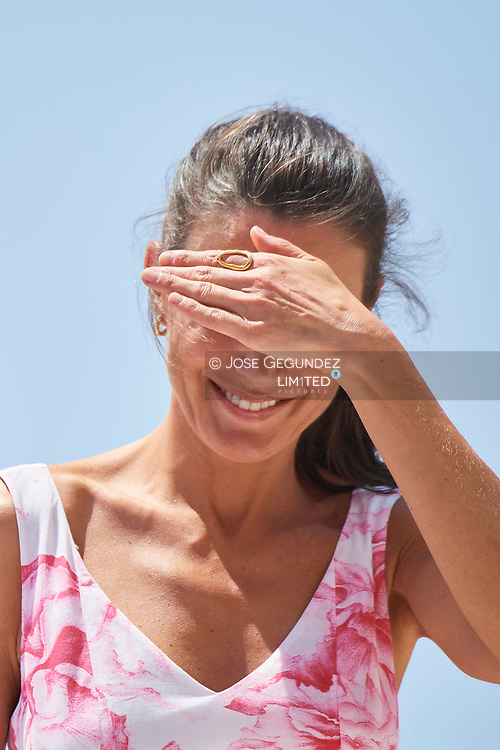 Queen Letizia of Spain visit Levante Beach on July 3, 2020 in Benidorm, Spain