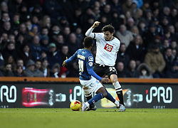 George Thorne of Derby County gets past Jacques Maghoma of Birmingham City - Mandatory byline: Robbie Stephenson/JMP - 16/01/2016 - FOOTBALL - iPro Stadium - Derby, England - Derby County v Birmingham City - Sky Bet Championship