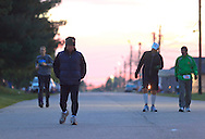 Augusta, New Jersey - Runners compete in 48- and 72-hour races during the 3 Days at the Fair races at Sussex County Fairgrounds on May 13, 2012.