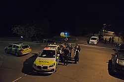 ©Licensed to London News Pictures 25/07/2020     <br /> Chislehurst, UK. The scene. Police markers are on the road to the right and forensic tent on the grass. A male pedestrian has been involved in a collision with a van in Chislehurst, South East London, The van did not stop. The London air ambulance was called but the man sadly died at the scene a police cordon is in place and at this time it is believed the police are linking this incident to the double stabbing at the Gordon Arms pub in Chislehurst. Photo credit: Grant Falvey/LNP