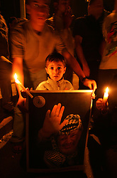 Gaza residents mourn the loss of Palestinian leader Yasser Arafat, Gaza, Palestinian Territories, Nov. 11, 2004. Arafat died in a Paris hospital at the age of 75.