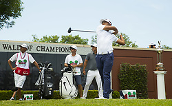 May 26, 2018 - Fort Worth, TX, USA - FORT WORTH, TX - MAY 26, 2018 - Satoshi Kodaira tees off on the first hole to start the third round of the 2018 Fort Worth Invitational PGA at Colonial Country Club in Fort Worth, Texas (Credit Image: © Erich Schlegel via ZUMA Wire)