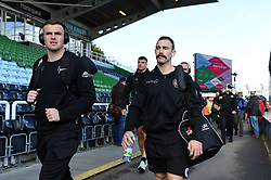 Joe Simmonds, Nic White and the rest of the Exeter Chiefs team arrive at the Stoop - Mandatory byline: Patrick Khachfe/JMP - 07966 386802 - 29/02/2020 - RUGBY UNION - The Twickenham Stoop - London, England - Harlequins v Exeter Chiefs - Gallagher Premiership