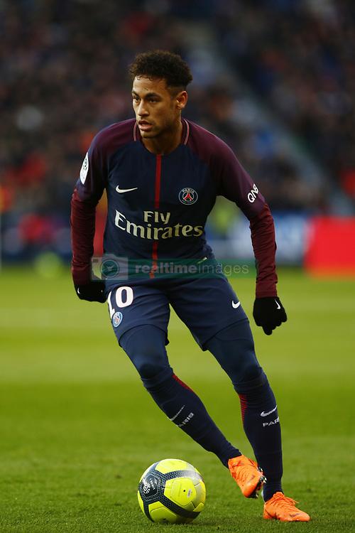 February 17, 2018 - Paris, France - Neymar Jr of Paris Saint-Germain runs with the ball during the Ligue 1 match between Paris saint-Germain and Strasbourg at Parc des Princes on February 17, 2018 in Paris, France. (Credit Image: © Mehdi Taamallah/NurPhoto via ZUMA Press)