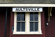 The Aultsville Train Station near Upper Canada Village, Ontario, Canada.  The station was built between 1866 and 1889 and moved to its current location in the 1950's due to the rising waters from the flooding of the St. Lawrence Seaway.