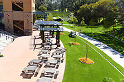 Picnic Tables Outside the Visitor Center on the University of California Irvine