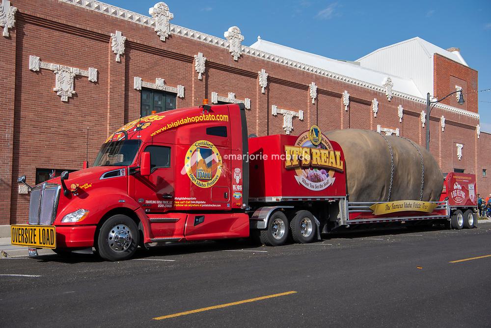 Idaho Famous Potato Truck at the Historic Wilson Theatre in downtown Rupert, Idaho.