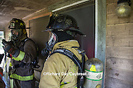 63818-02507 Firefighters at structure fire, Effingham Co., IL