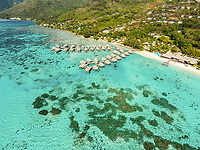 Aerial view of the Sofitel Ia Ora Beach Resort, Temae, Moorea, French Polynesia
