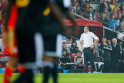 Belgium Manager Chris Coleman looks frustrated - Photo mandatory by-line: Rogan Thomson/JMP - 07966 386802 - 12/06/2015 - SPORT - FOOTBALL - Cardiff, Wales - Cardiff City Stadium - Wales v Belgium - EURO 2016 Qualifier.