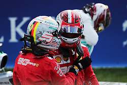 August 31, 2019, Spa Francorchamps, Belgio: xa9; Photo4 / LaPresse.31/08/2019 Spa Francorchamps, Belgio.Sport .Grand Prix Formula One Belgio 2019.In the pic: pole position Charles Leclerc (MON) Scuderia Ferrari SF90, 2nd position Sebastian Vettel (GER) Scuderia Ferrari SF90 and 3rd position Lewis Hamilton (GBR) Mercedes AMG F1 W10 (Credit Image: © Photo4/Lapresse via ZUMA Press)