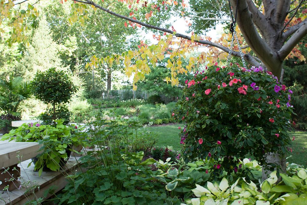 17 July 2012- Dr. Alan & Karen Richards garden featured in Monroe Meyer Garden Walk, is photograohed at their home in West Omaha, Nebraska for Omaha Magazine.